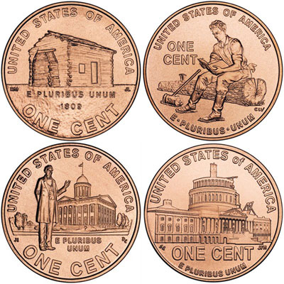 2009 Lincoln Cents | 2009 Lincoln Bicentennial Cent Designs